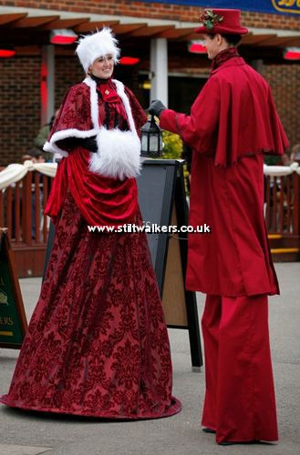 Victorian, Edwardian and Dickensian Christmas Stilt Walkers